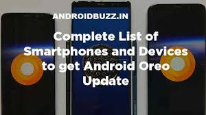 android oreo update list mobile
