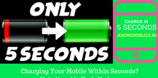 Charging Your Mobile Within Seconds
