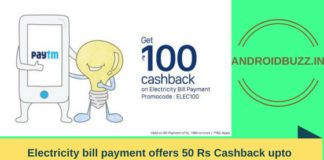 Electricity bill payment offers
