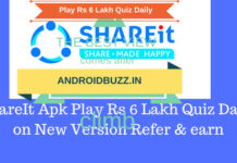 Shareit Playing Quiz