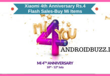 4th Anniversary Sale