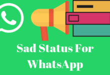 Sad Status For WhatsApp
