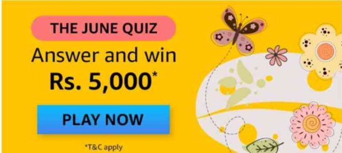 Amazon The June Quiz Answers Win