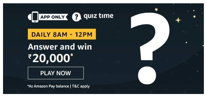 Amazon Quiz Answers 15 June