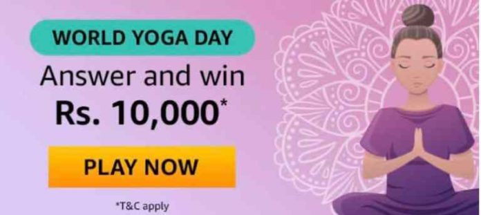 Yoga Day Quiz Today Answers
