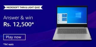 Amazon Microsoft Thin and Light Quiz