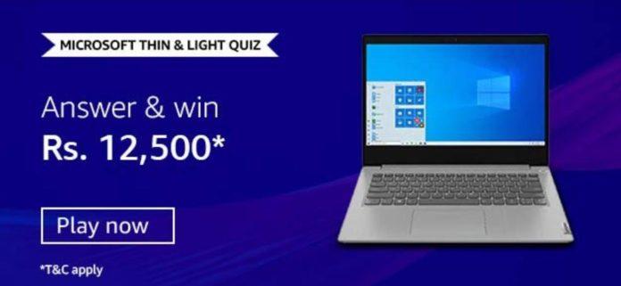 Amazon Microsoft Thin and Light Quiz