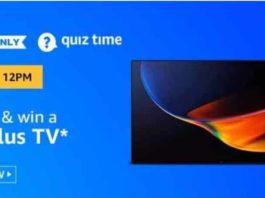 Amazon Oneplus TV Quiz Today Answers