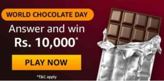 Amazon World Chocolate Day Quiz