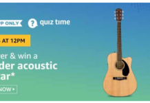 Amazon Quiz Todays Answer