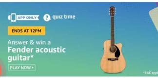 Amazon Quiz Todays Answer