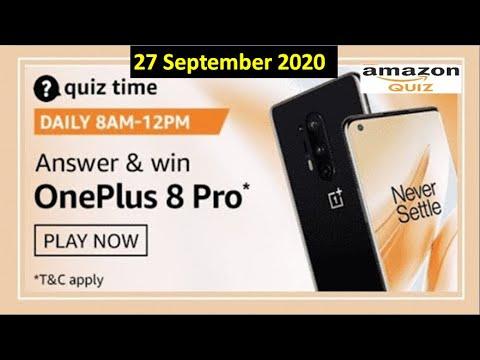 Amazon Quiz 27 September 2020