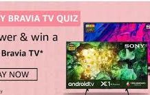 Amazon Sony Bravia TV Quiz Answers