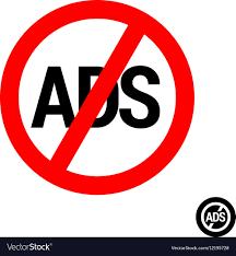 no ads logo